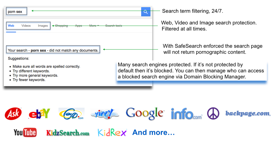 search_engines_info ENFORCE SAFESEARCH
