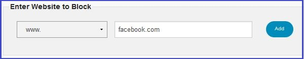 facebookblock How to block a website / app.