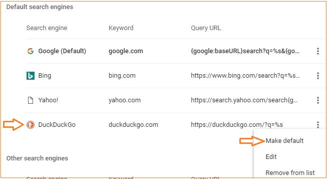 chrome_ddg-1 How to change your default search engine.