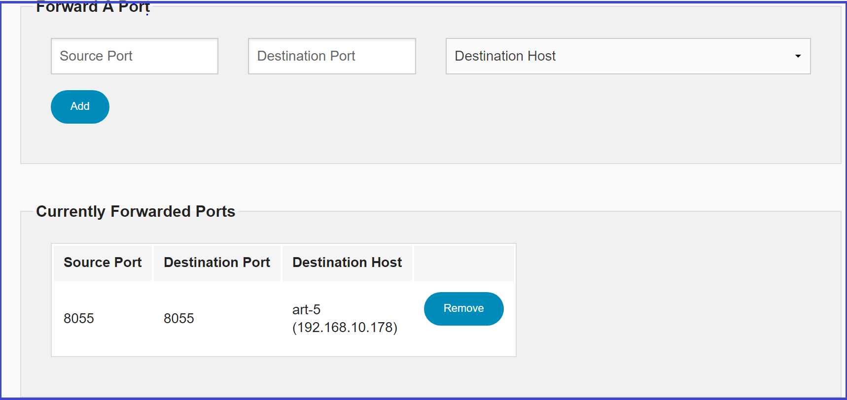 portforward Port Forwarding
