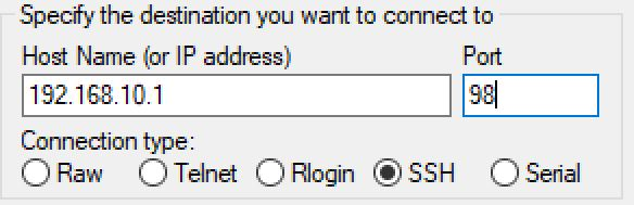 putty1-1 How to change LAN IP